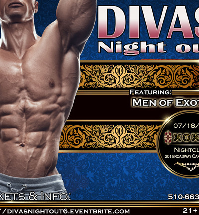 **DIVA'S NIGHT OUT! 6 ** with MEN OF EXOTICA